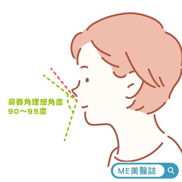 鼻唇角理想角度
