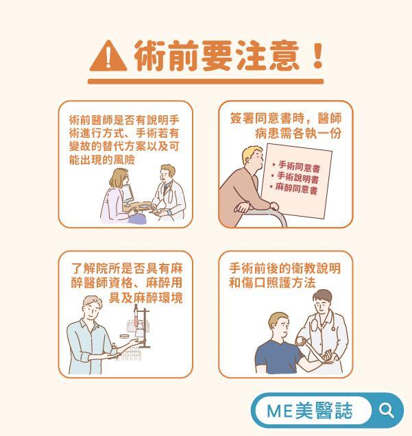 手术前要注意